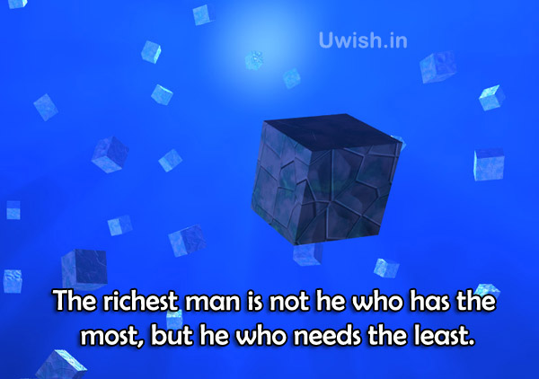 Richest Man Inspirational & Motivational quotes e greeting cards and wishes.