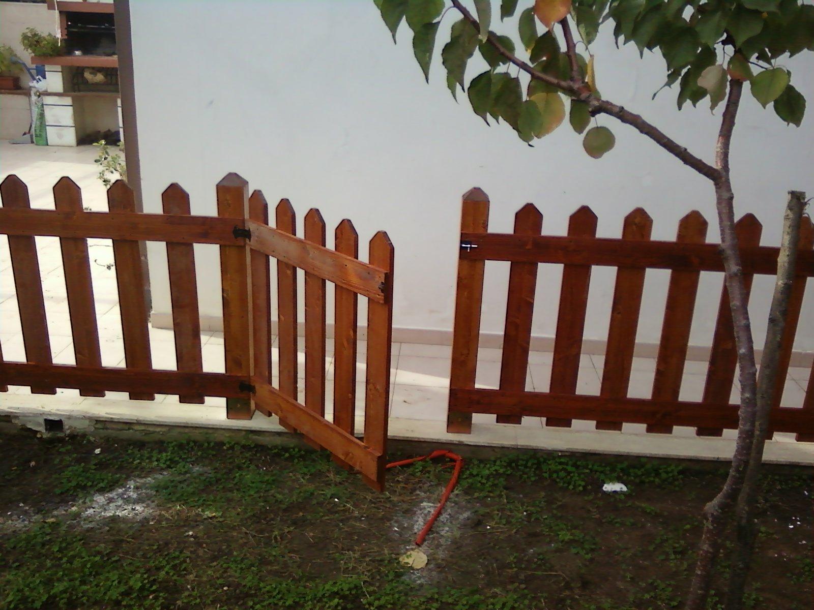 Fai da te hobby legno staccionata - Staccionata in legno per giardino ...