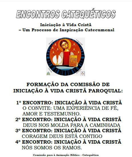 FORMAÇÃO PARA COMISSÃO IVC PAROQUIAL