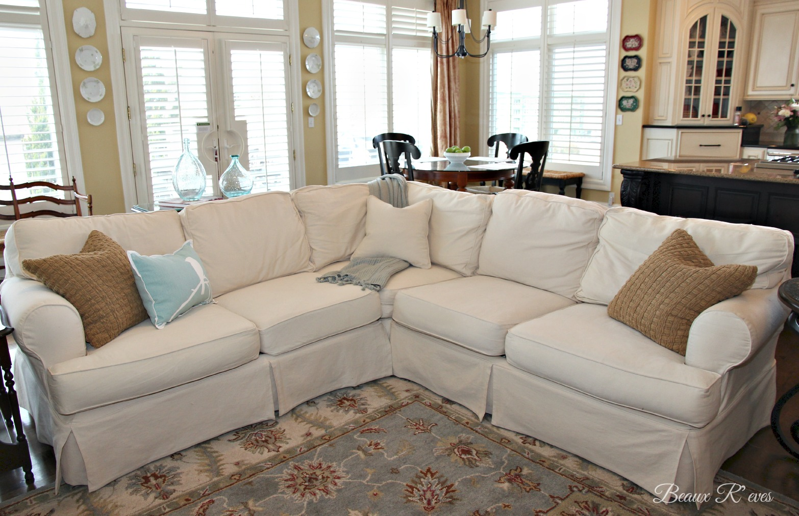 Pottery Barn Knock Off JCPenney Slipcovered Sectional Review : pb comfort sectional - Sectionals, Sofas & Couches