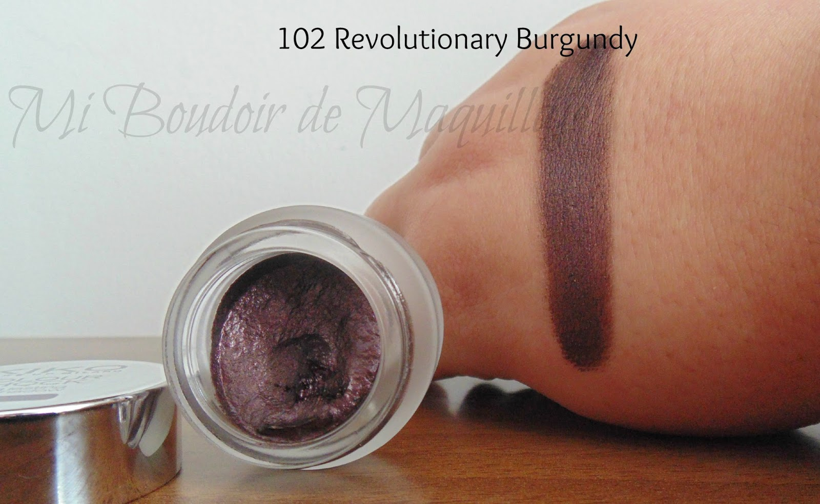102 Revolutionary Burgundy sombra en gel Kiko
