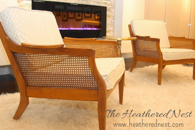 mid century chairs, how to reupholster mid century cain chairs