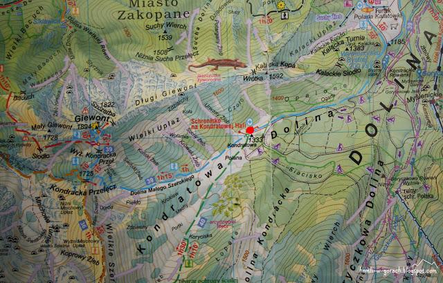Schronisko PTTK na Hali Kondratowej na mapie