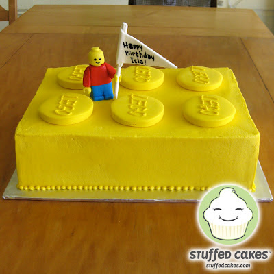 Stuffed Cakes: Big Ol  Yellow Lego Cake