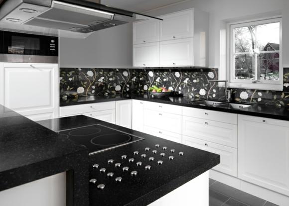 Exito personal colores y dise os de cocinas - Cocina en blanco y negro ...