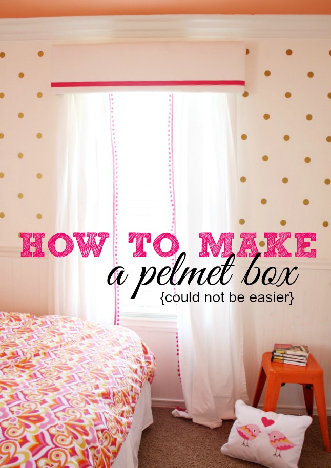 easy pelmet box tutorial