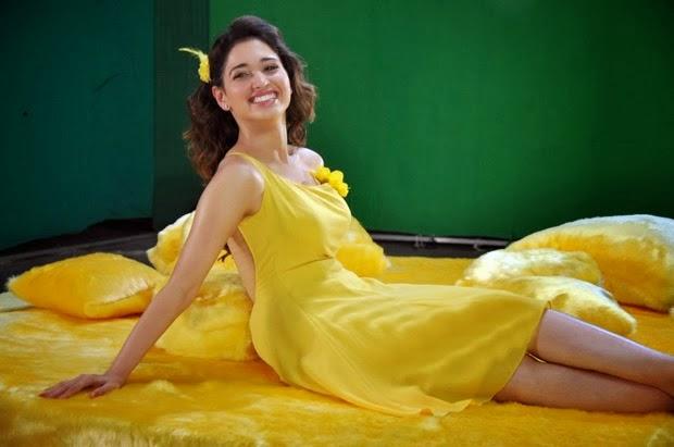Tamanna Bhatia looking cute in yellow