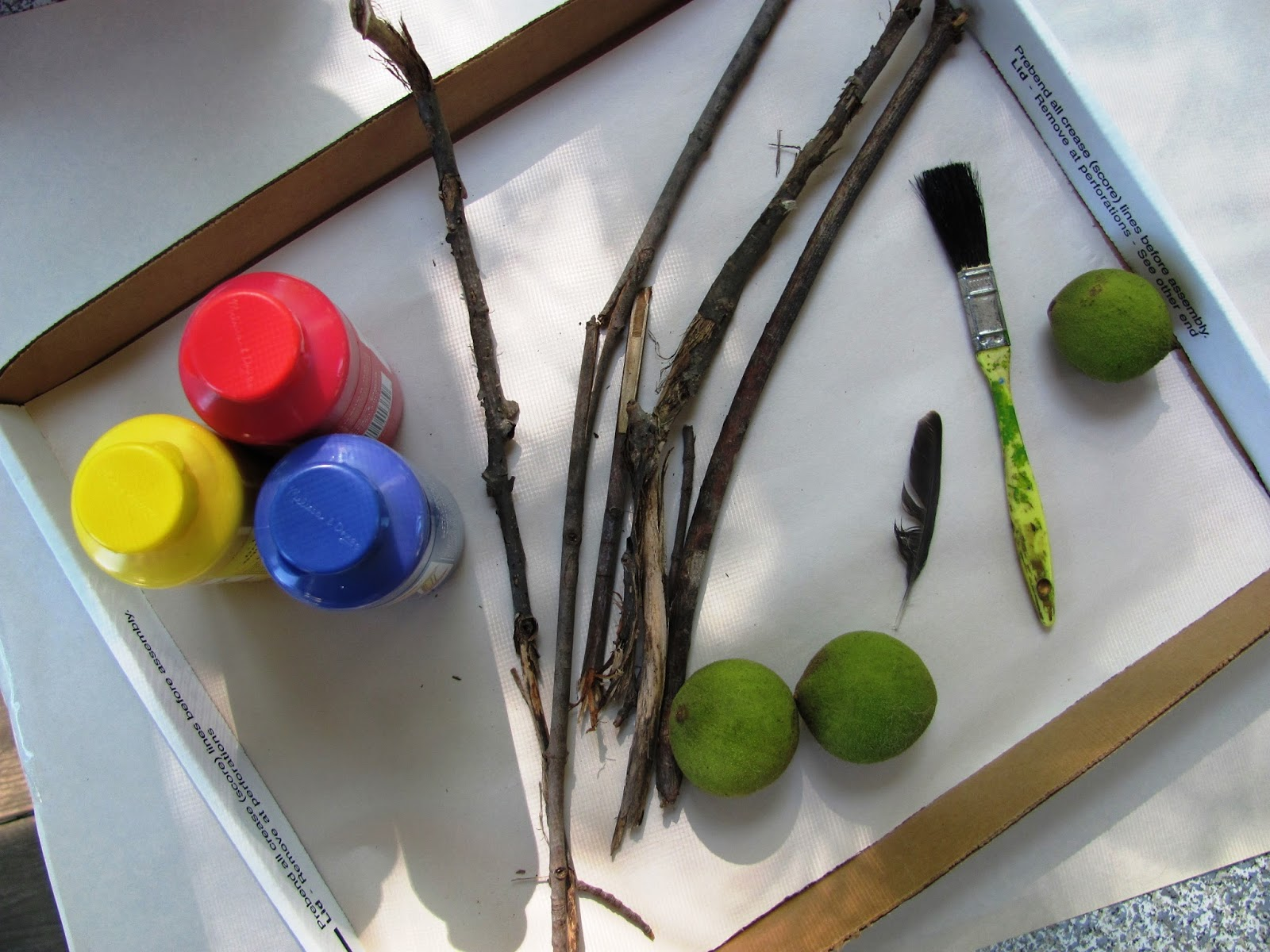A life sustained toddler explorations painting nature for Painting with nature items