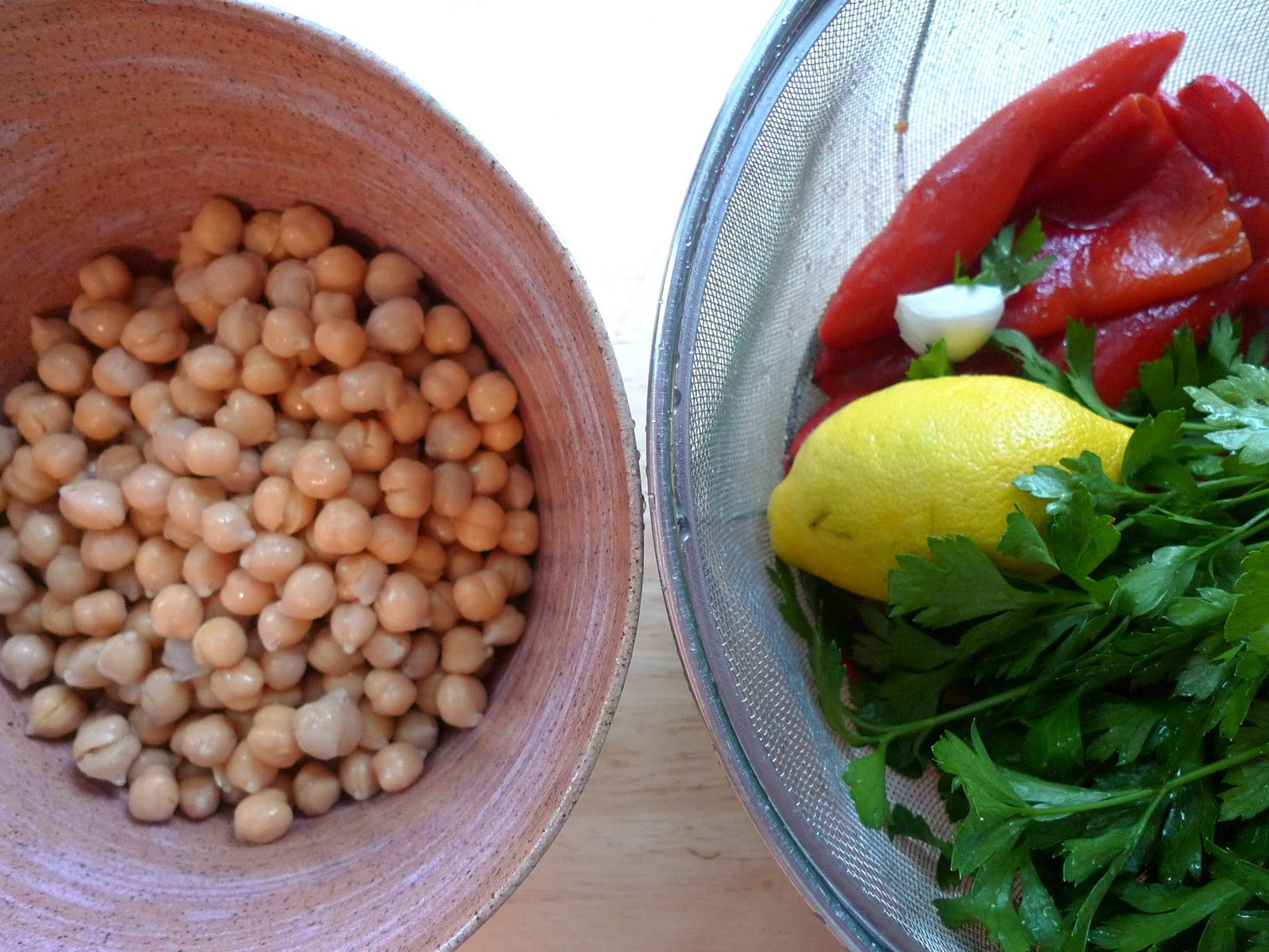 Soaking chickpeas: Cover with water and let soak overnight. The next ...
