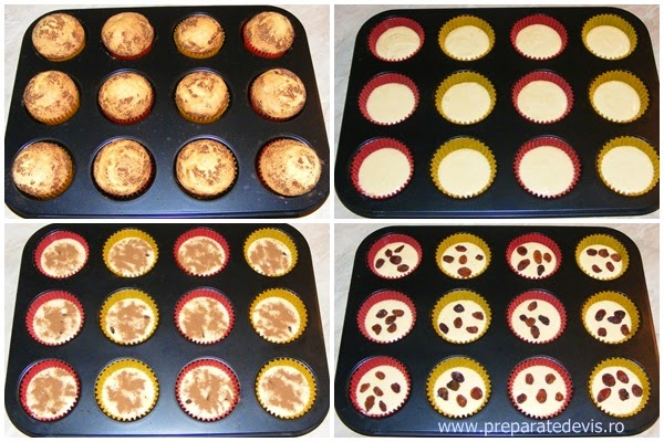 retete si preparate culinare dulciuri deserturi prajituri madlene sau briose cu stafide si scortisoara preparare