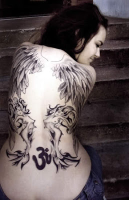Beautiful tattoo on back