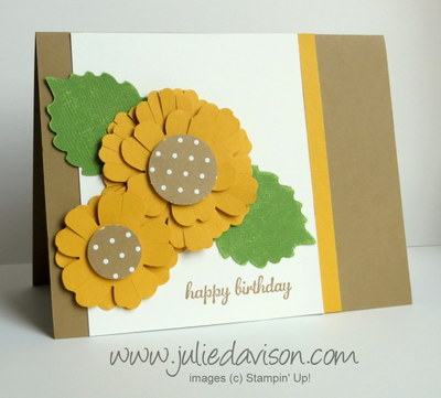 Sunflower Punch Art Birthday Card