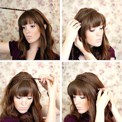 Tutorial Model Kepang Rambut Bando Modern (langkah kedua)