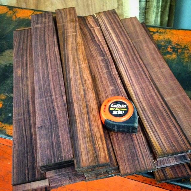 Tropical Exotic Hardwoods Cocobolo Fingerboards