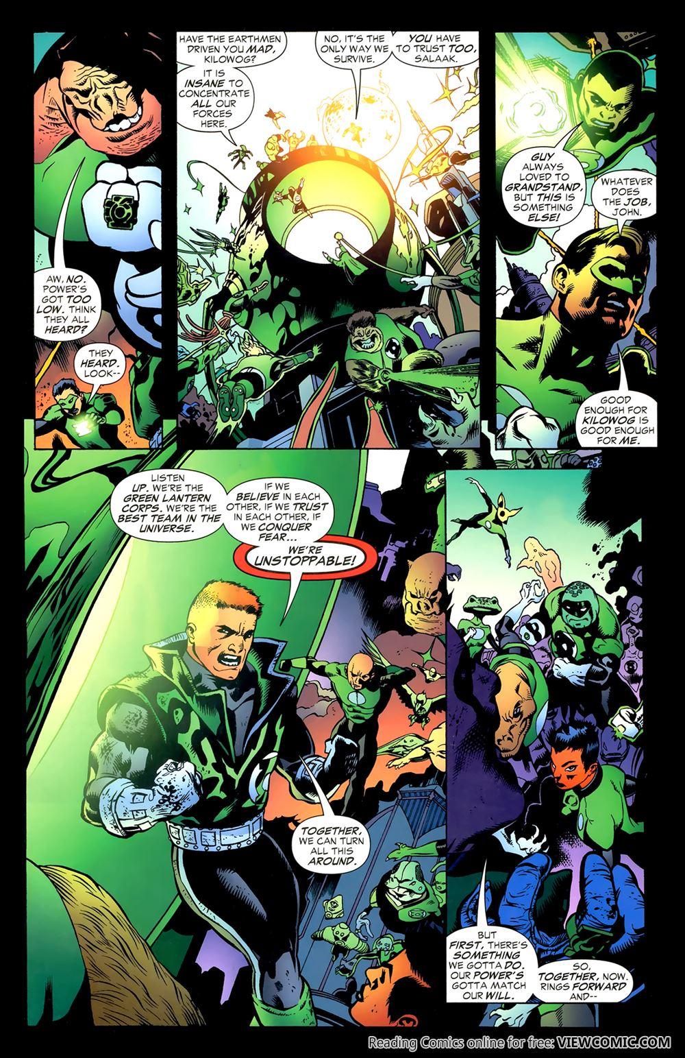 green lantern corps recharge 05 of 5 2006 reading comics