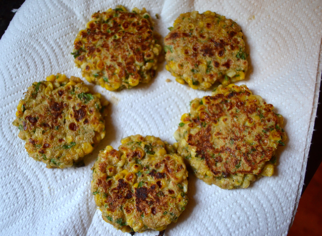 take a bite: Corn Cakes with Zucchini Salsa