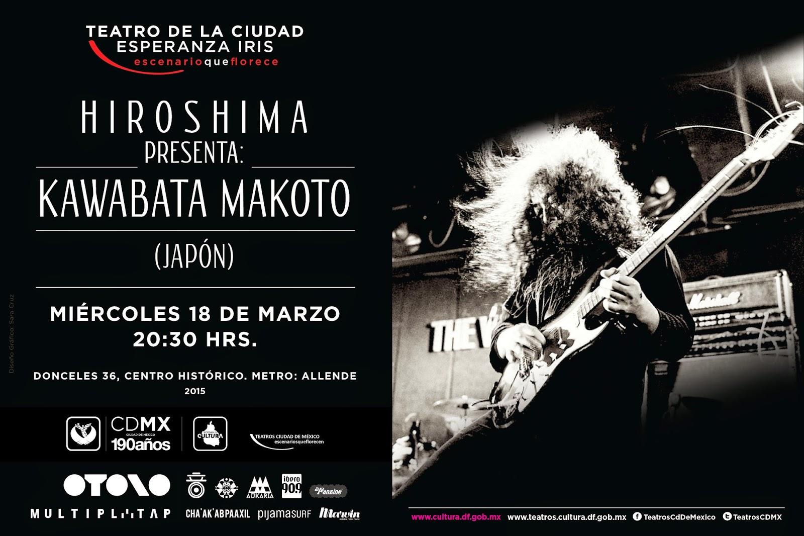 Se presenta Kawabata Makoto en el Teatro de la Ciudad Esperanza Iris