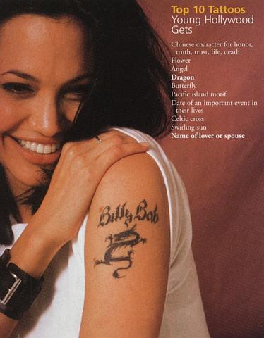Angelina Jolie Arm Tattoos