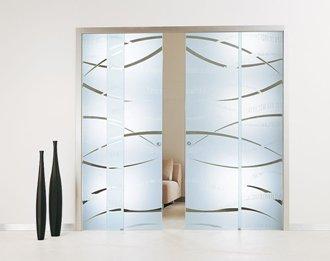Puertas correderas de cristal cocinas modernass - Puertas correderas de cristal empotradas ...