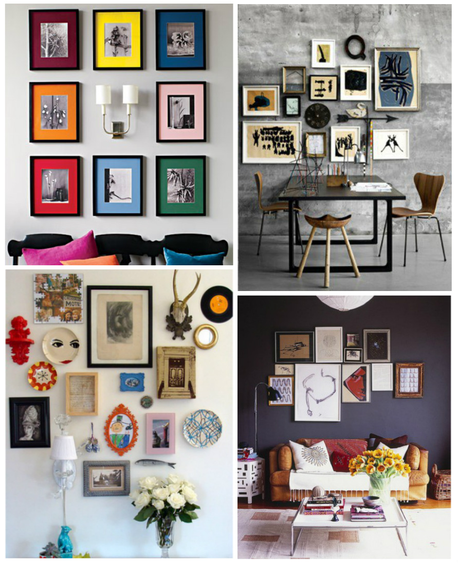 Interior design, hung, frame, pictures, organize