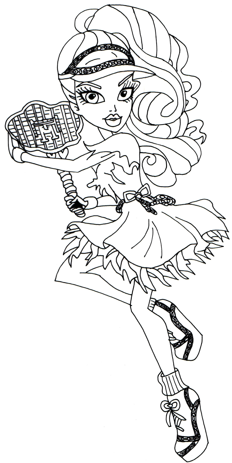 Free printable monster high coloring pages june 2014 for Monster high printables coloring pages