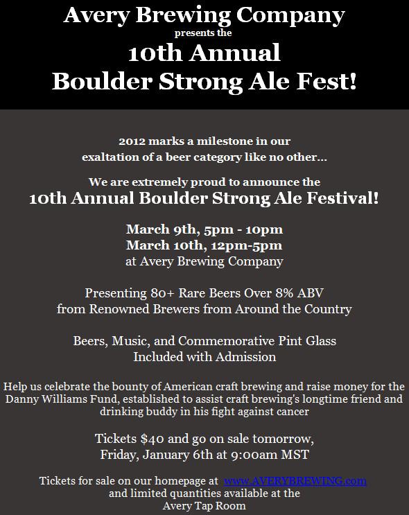 Boulder Strong Ale Festival 2012