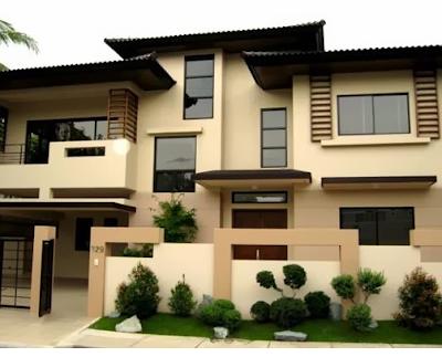warna cat eksterior rumah minimalis