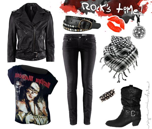 Resultado de imagen de look rockero