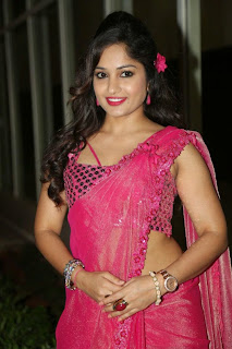 Actress Madhavi Latha Pictures in Pink Saree at Mosagallaku Mosagadu Audio Release Function  8.JPG