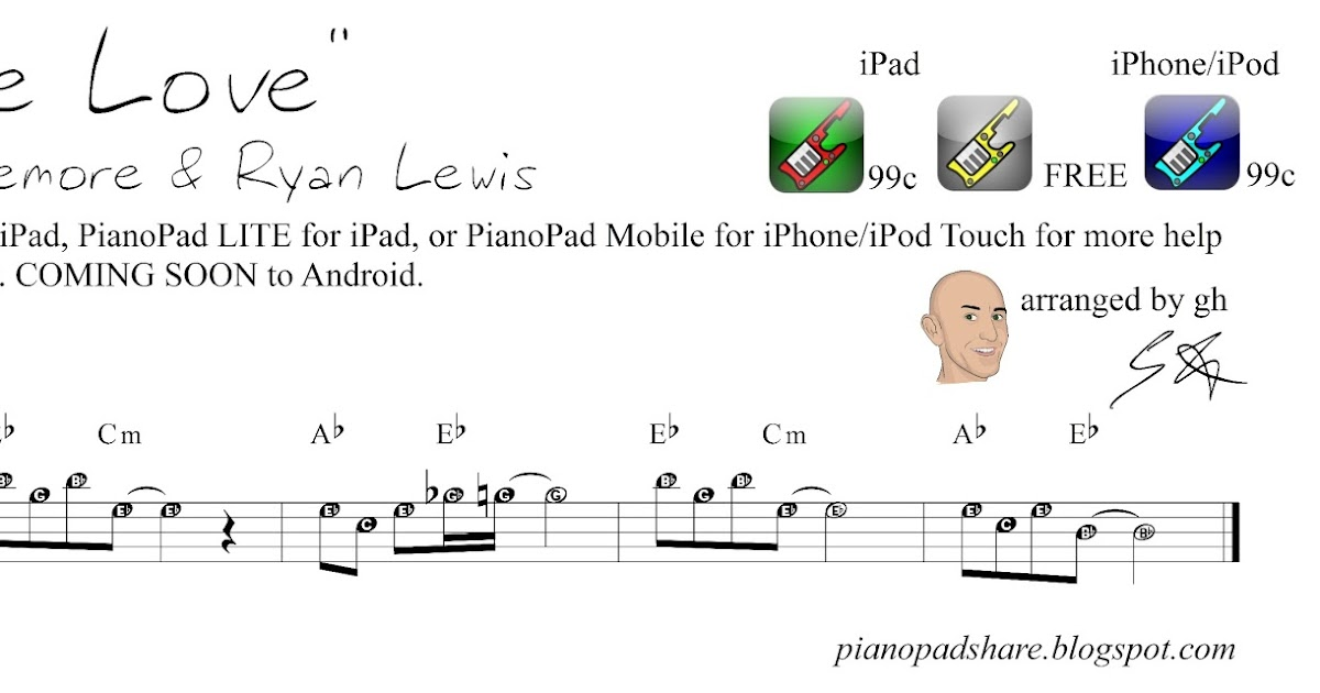 Pianopad Upload Community Same Love By Macklemore And Ryan Lewis