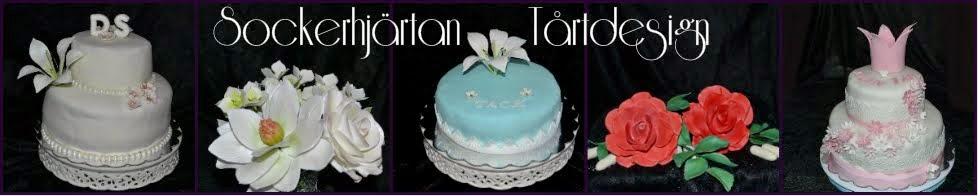 Sockerhjärtan tårtdesign
