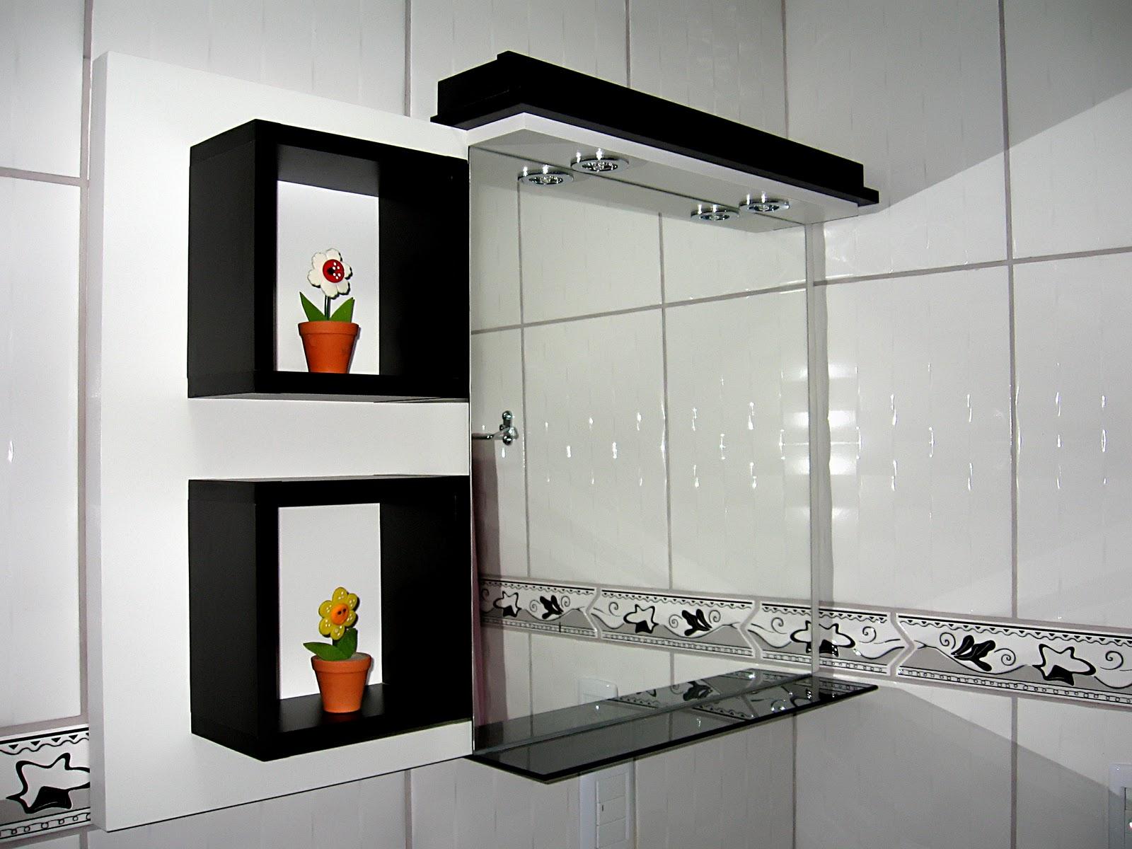 RÍMINI Ambientes Tendências Mundiais : Banheiro em preto e branco #B74210 1600x1200 Banheiro Branco Preto E Cinza