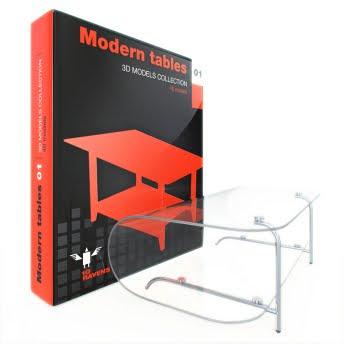 10ravens: 3D Models collection 004 Modern tables 01