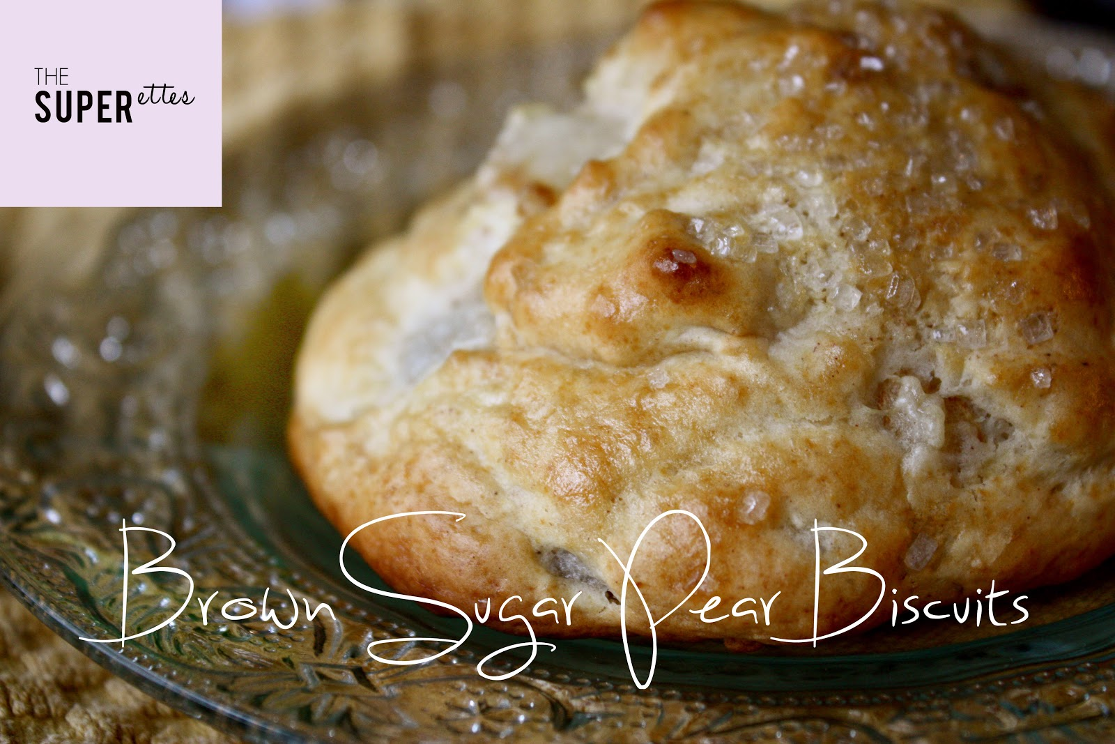 The Superettes: Brown Sugar Pear Biscuits