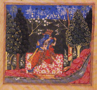 Folio from a Manuscript of the Gitagovinda of Jayadeva: Krishna and Radha in a Bower