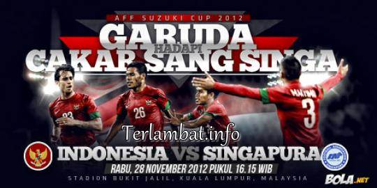 Indonesia VS Singapura 28 November 2012 Piala AFF