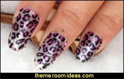 leopard nail stickers - animal themed naiils - nail decals