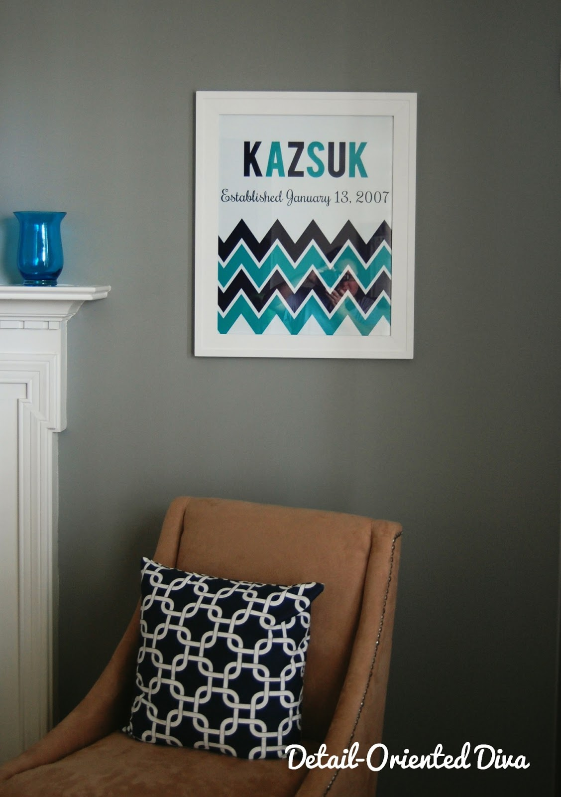 detail oriented diva living room redo i am absolutely loving this new chevron art it s so classy