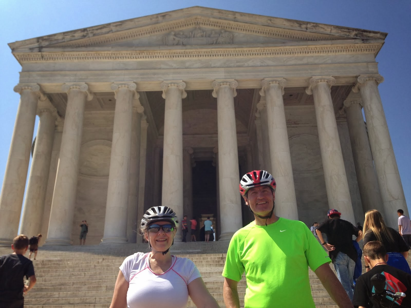 Our first bike ride to DC.