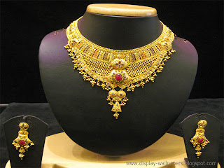 uncut diamonds necklace gold designs heavy diamond malabar akshaya jewellery