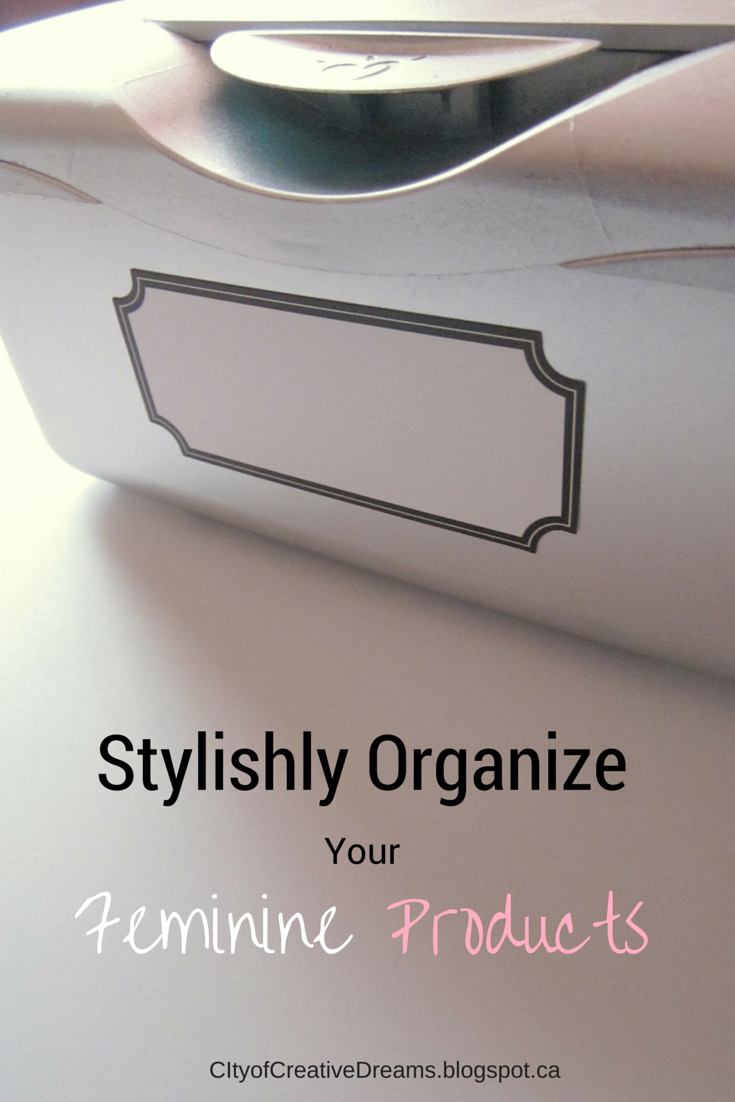 organize feminine products