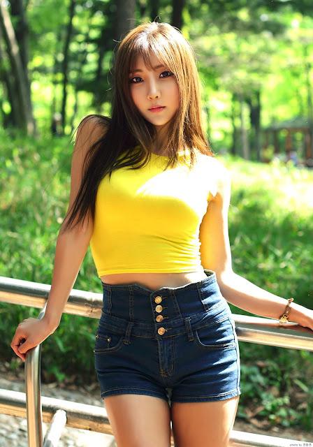 2 Mina - Outdoors Photo Shoot - very cute asian girl-girlcute4u.blogspot.com