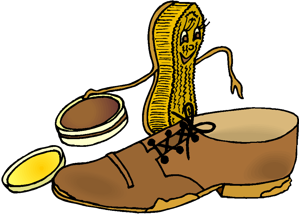 Brush and Shoes Fantasy Free Clipart