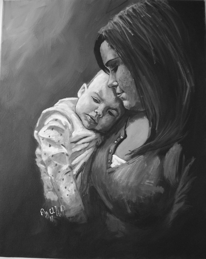 Free Desktop Wallpapers Backgrounds: Mothers Love Painting Pictures