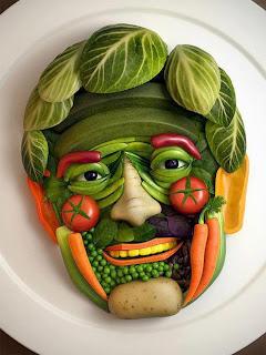 comida creativa creatividad alimentacion verdura fruta arte cara rostro