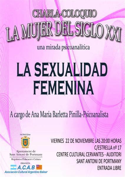 Conferència: La sexualidad femenina