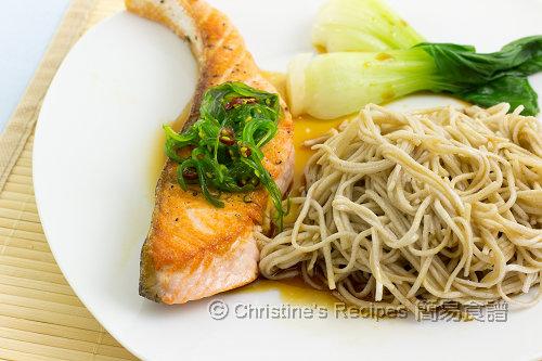 三文魚拌蕎麥麵 Salmon Soba02