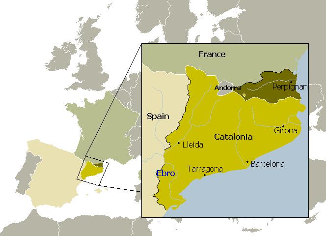 Mapa Catalunya. Escocia. Euskal Herria.  Flandes. Véneto. Independencia, referendum o consulta y derecho de autodeterminación.