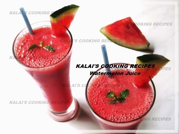 Ginger Mint Flavoured Watermelon \ Tharpoosani Pazham Fresh Juice