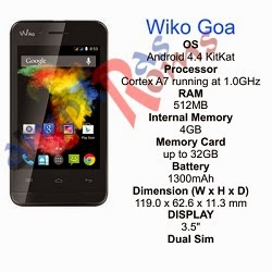 Wiko Goa specs and stock rom download